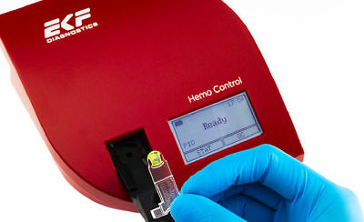 Hemo Control Hemoglobin and Hematocrit Analyzer EKF Diagnostics+ 50 microcuvette