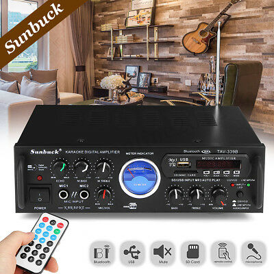 2 Channel 500 Watts Professional Amplifier AMP DJ Stereo bluetooth USB SD 2