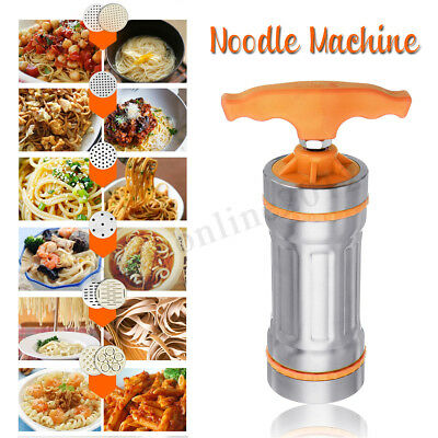 Stainless Steel Pasta Noodle Maker Fruit Press Spaghetti Manual Machine +9  new