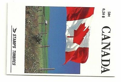 CANADA UT BK 111A 1989 DEFINITIVE ISSUES 50c FLAG BOOKLET