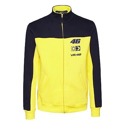 SWEATSHIRT Zip Adult Bike MotoGP Valentino Rossi VR 46 NEW! Yellow & Navy S