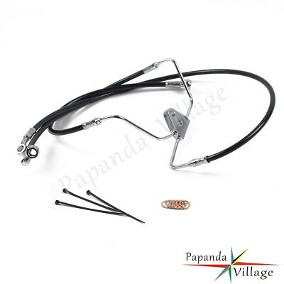 "Front +6"" Stainless Brake Cable Line Kit For Harley Road Glide 2008-2013 Black"