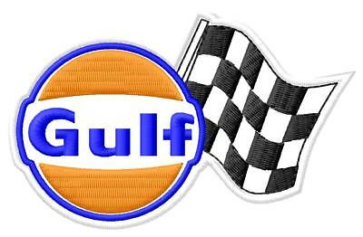 Gulf Racing Flag ecusson brodé patche Thermocollant iron-on patch