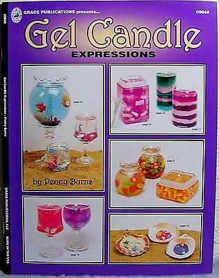 """Gel Candle: Expressions"" Candle Making Design, Project & Instruction Craft Book"
