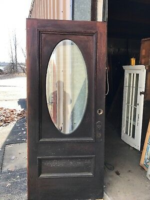 Cm 61 Antique Beveled Glass Oval Entrance Door 36 X 83.5