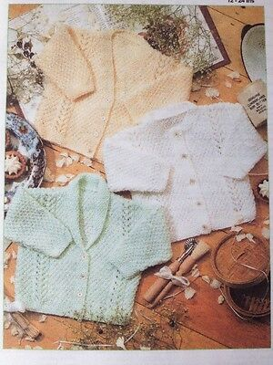 Knitting Pattern For Babys Assorted Cardigans  12-24inch DK See Details (B30)