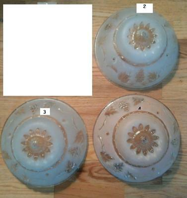Vintage Art Deco Frosted Floral Design Glass Lamp Shade Ceiling price is for one