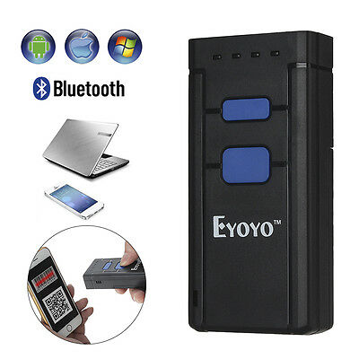 Eyoyo Portable 1D Bluetooth Wireless Barcode Scanner for Windows, Android, iOS G