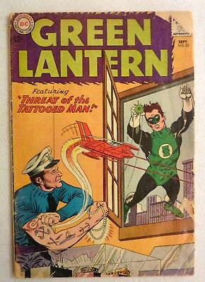 Green Lantern 23 DC Comics Silver Age 1963 G+/VG- Condition First Tattooed Man
