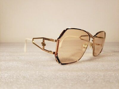 Vtg 80's CAZAL Model 225 Gold w/Pink&Blue Accents Abstract Modernist Eyeglasses!