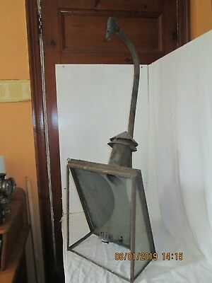 ANTIQUE STREET GAS LAMP 1840/50's. COOPER RARE