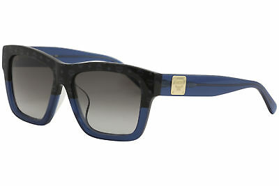 51bda90a72 MCM Women s MCM607SA MCM 607 SA 966 Black Visettos Blue Square Sunglasses  56mm