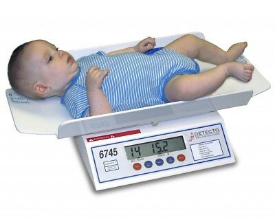 BABY SCALE DIGITAL 30 lb x .1 oz / 15 kg x .005 kg INFANT - 6745 NEW
