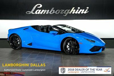 2016 Lamborghini Huracan LP610-4 Spyder  NAV+RR CAM+BRANDING+AD PERSONAM+LIFT SYS+SPORT EXHAUST+CRUISE CONTROL+REAR CAM