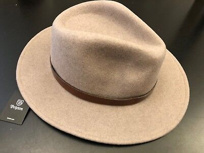 1f73e3b0cc36 Brixton Messer Felt Fedora Hat 00136 - Heather Natural Brown - Men s XS    54cm