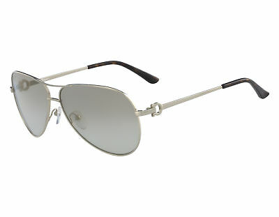 5628484b1d SALVATORE FERRAGAMO SUNGLASSES SF108S 719 Brushed Gold Rectangle ...