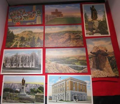 Vintage North Dakota Postcards Buildings And Badlands