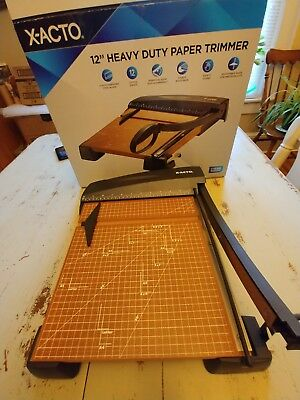 """X-ACTO Heavy Duty Wood Guillotine 12"""" Paper Cutter/Trimmer - EPI26312"""