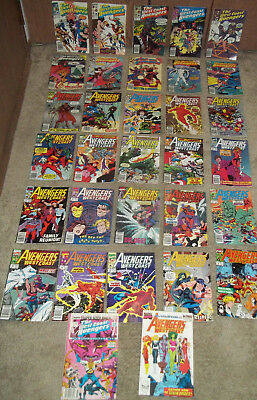 Big Lot of 32 THE WEST COAST AVENGERS 37-65 ( straight run) 75  - Annuals 3 & 4