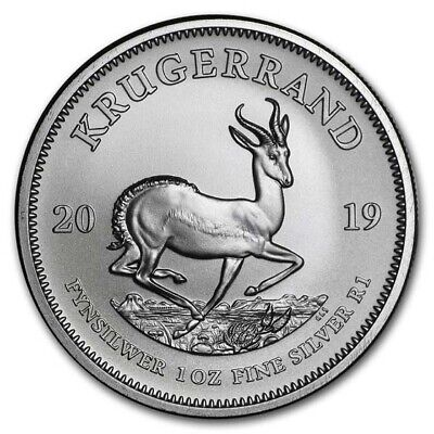 2019 South Africa 1 oz Silver Krugerrand BU - SKU#178077
