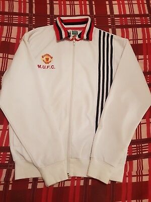 Vintage retro Manchester United Track Top 1980s by score draw, large