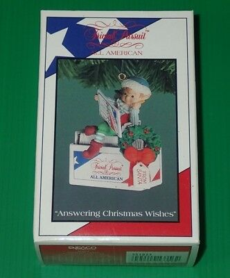 Enesco Treasury Ornament ~ Answering Christmas Wishes ~ Trivial Pursuit ~ 1994