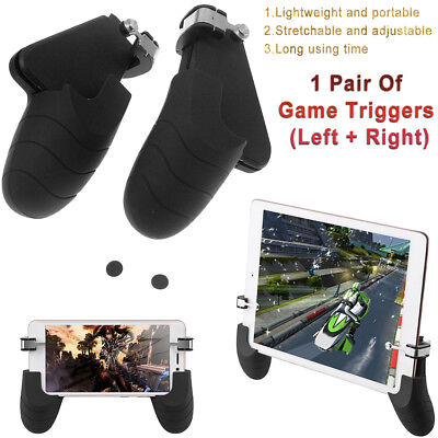 For iPad iPhone X PUBG Mobile Gamepad Gaming Trigger L1R1 Shooter Controller NEW