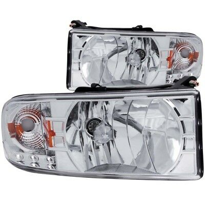 ANZO for 1994-2001 Dodge for Ram Crystal Headlights Chrome w/ LED - anz111206