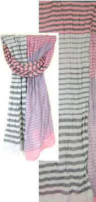 Multicolor Stripes Long Scarf  (Lot of 5)
