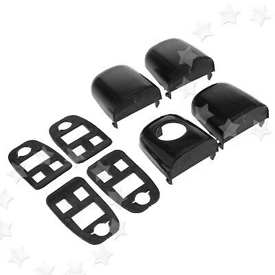 4PCS Door Handle End Cap Trim Kit With Seals Left&Right Side For PEUGEOT 307