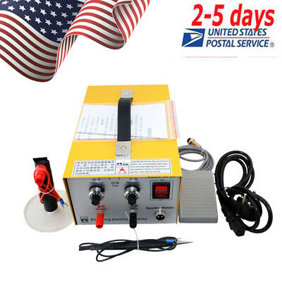 Pulse Sparkle Spot Welder Electric Jewelry Welding Machine Gold Silver USA Hot