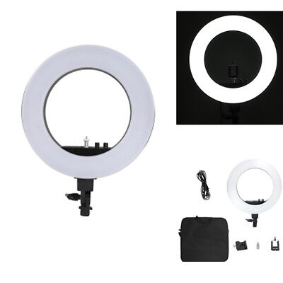 "LED 18"" Ring Light Dimmable 5500K Continuous Lighting Photo Video Kit US Standar"