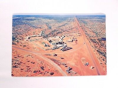 Threeways Roadhouse Postcard Aerial Shot Australia Desert Nucolorvue Outback