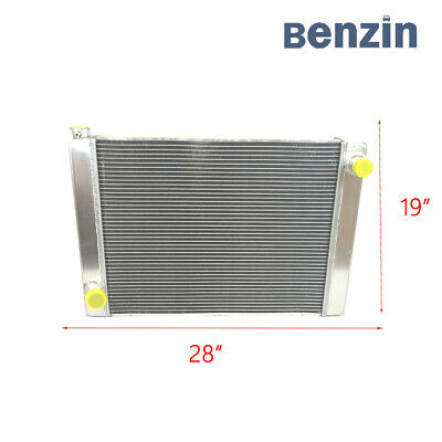 "For Ford Mopar Fabricated Aluminum Racing Radiator 27.5/"" x 19/"" x3/'/' OE Quality"
