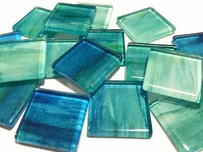 Handmade Watercolour Glass Mosaic Tiles 2.5cm Pattern 1 - Craft Art Supplies