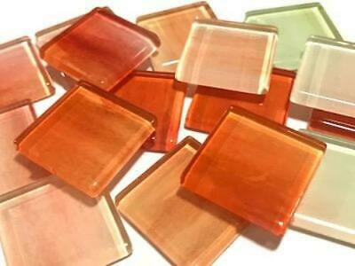 Handmade Watercolour Glass Mosaic Tiles 2.5cm Pattern 16 - Craft Art Supplies