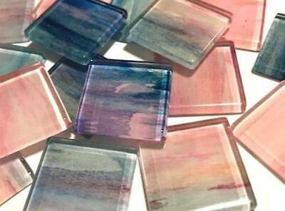 Handmade Watercolour Glass Mosaic Tiles 2.5cm Pattern 15 - Craft Art Supplies