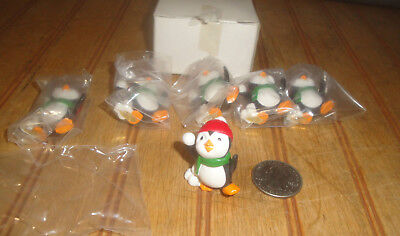 Vintage Hallmark Merry Miniatures Penguin Snowball Fight Factory Case of (6)