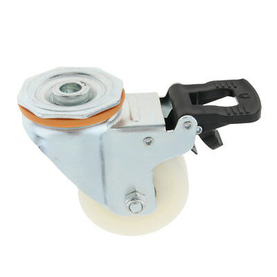 Home Office Table PP Flat Industrial Caster Wheel Dual Brake Double Bearing