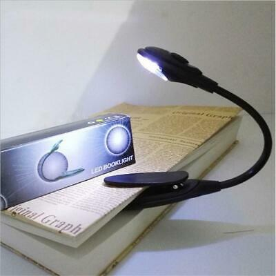 Portable Led Book Light - Mini Clip-On Flexible Bright LED Reading Lamp