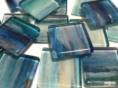 Handmade Watercolour Glass Mosaic Tiles 2.5cm Pattern 6 - Craft Art Supplies