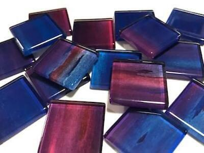Handmade Watercolour Glass Mosaic Tiles 2.5cm Pattern 9 - Craft Art Supplies