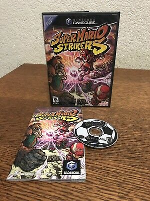 Nintendo Gamecube Super Mario Strikers Cib Complete