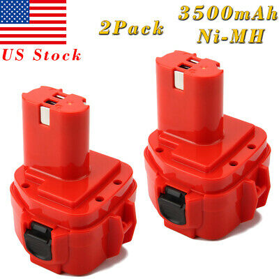 2x 3.5AH 12V Ni-MH Battery for Makita 1222 1233 1220 1234 1235 192598-2 PA12
