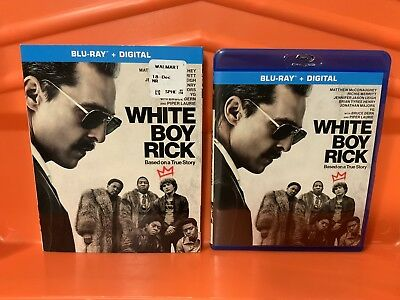 White Boy Rick (2019, Blu-Ray + Slipcover) No Digital Included