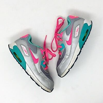 various colors b18f1 5c82e Toddler Girls Nike Airmax Silver Pink And Mint Accents Size 10