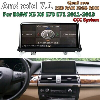 Android 7.1 For BMW X5 E70 X6 E71 07-10 CCC System Car DVD Player GPS Navigation