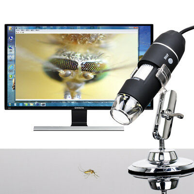2MP 1000X8 LED USB 2.0 Digital Microscope Endoscope Zoom Camera Magnifier+Stand