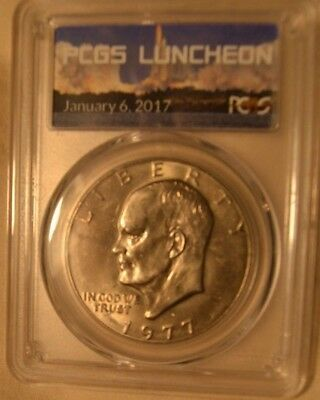 PCGS Sample Luncheon 1977 Eisenhower Dollar , Edition of 200