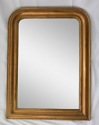 19th Century Antique French Louis Philippe Giltwood Mirror